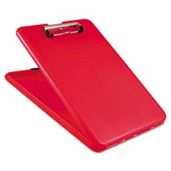 "SlimMate Storage Clipboard, 1/2"" Clip Capacity, Holds 8 1/2 x 11 Sheets, Red"