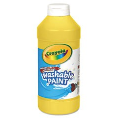 Washable Paint, Yellow, 16 oz
