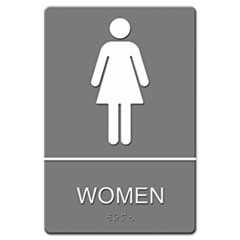 SIGN,WALL,ADA,WOMEN,GY