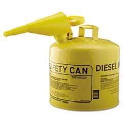 Type I Safety Can, F-15 Funnel, 5gal, Metal, Yellow