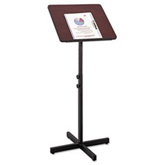 Adjustable Speaker Stand, 21w x 21d x 29-1/2h to 46h, Mahogany/Black