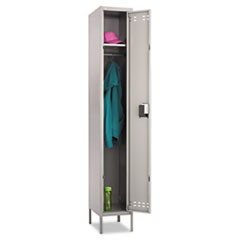 Single-Tier Locker, 12w x 18d x 78h, Two-Tone Gray
