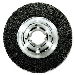 "Trulock TLM-10 Narrow-Face Crimped Wire Wheel, 10"" dia, .014 Wire, Arbor Dia: 2"""