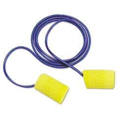 E-A-R Classic Foam Earplugs, Metal Detectable, Corded, Poly Bag