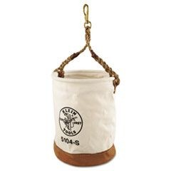 Leather-Bottom Canvas Bucket With Swivel Snap