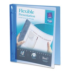 Flexible Round Ring Binder, 11 x 8 1/2, 1