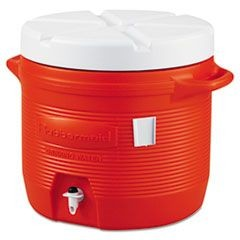 Plastic Water Cooler, 7gal, Orange