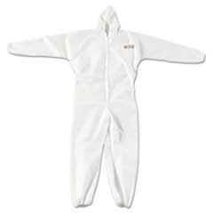 A20 Elastic Back, Cuff & Ankle Coveralls, Zip, XL, White, 24/Carton
