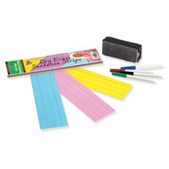 Dry Erase Sentence Strips, 12 x 3, Assorted, 20 per Pack