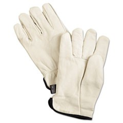 Premium Grade Leather Insulated Driver Gloves, Cream, X-Large, 12 Pairs