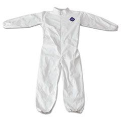 Tyvek Coveralls, Zip Closure, Elastic Wrist/Ankles, Medium