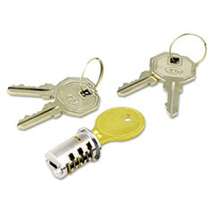 1Key-Alike Lock Core Set, Brushed Chrome