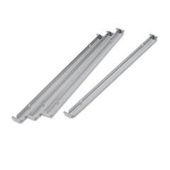 "1Two Row Hangrails for 30"" or 36"" Files, Aluminum, 4/Pack"