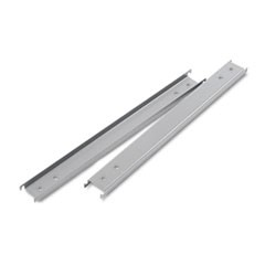 "1Three Row Hangrails for 42"" Files, Aluminum, 2/Pack"