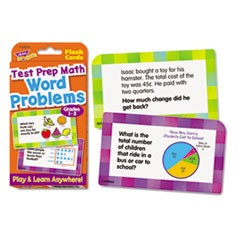 Challenge Flash Cards, Math Grades 1-3, 3 1/8 x 5 1/4, 56 per Pack