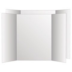 Two Cool Tri-Fold Poster Board, 36 x 48, White/White, 6/Carton