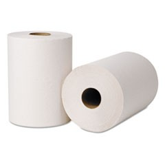 EcoSoft Universal Roll Towels, 425 ft x 8 in, Natural White