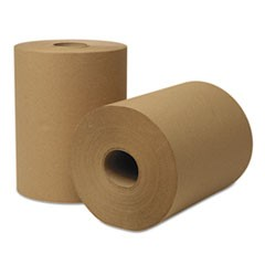 EcoSoft Universal Roll Towels, 425 ft x 8 in, Natural, 12 Rolls/Carton