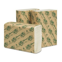 EcoSoft Multifold Towels, White, 250 Towels/Pack, 16 Packs/Carton