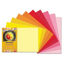 1Tru-Ray Construction Paper, 76lb, 12 x 18, Assorted Cool/Warm Colors, 25/Pack