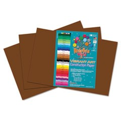 Heavyweight Construction Paper, 58 lbs., 12 x 18, Dark Brown, 50 Sheets/Pack