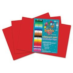 Heavyweight Construction Paper, 58 lbs., 12 x 18, Red, 50 Sheets/Pack