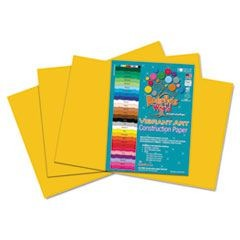 Heavyweight Construction Paper, 58 lbs., 12 x 18, Yellow/Orange, 50 Sheets/Pack