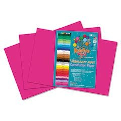 Heavyweight Construction Paper, 58 lbs., 12 x 18, Magenta, 50 Sheets/Pack