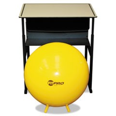FitPro Ball with Stability Legs, 65 cm, Yellow