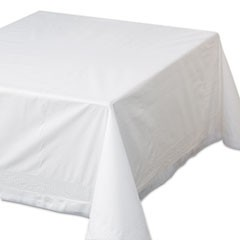 "1Tissue/Poly Tablecovers, 72"" x 72"", White, 25/Carton"