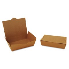 ChampPak Carryout Boxes, 2lb, 7 3/4w x 5 1/2d x 1 7/8h, Brown, 200/Carton