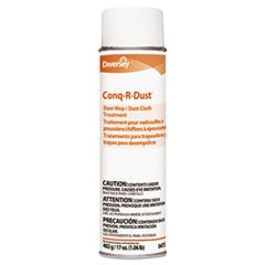 Conq-r-Dust Dust Mop/Dust Cloth Treatment, Amine Scent, 17oz Aerosol, 12/Carton