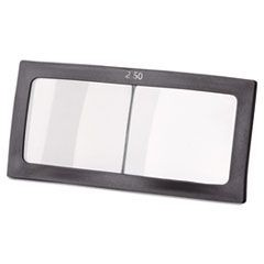 "Magnifier Lens, 2"" x 4 1/4"", Glass, 2.5 Diopter"