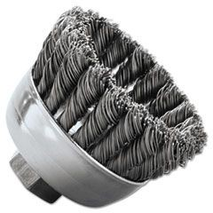 "SRA-2 General-Duty Knot Wire Cup Brush, .020, 5/8-112, 3/4"" dia"