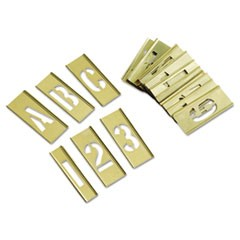 45-Piece Combination Letter and Number Stamp Set