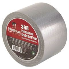 "398-4-SIL Premium, Duct Tape, 4"" x 60yds, Silver"