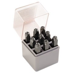 "Standard Steel Hand Stamp Set, 1/4"", Number"