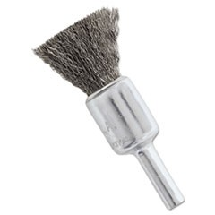 "NS4S Stainless Steel Wire-End Brush, Crimped Wire, 1/2"" x .006"""