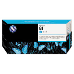 HP 81, (C4951A) Cyan Printhead and Cleaner