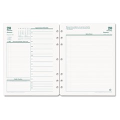 Original Dated Daily Planner Refill, January-December, 8 1/2 x 11, 2017