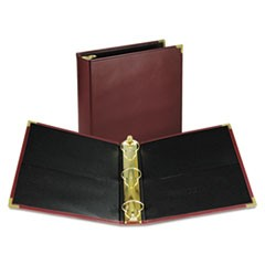 "Classic Collection Ring Binder, 11 x 8 1/2, 2"" Cap, Burgundy"