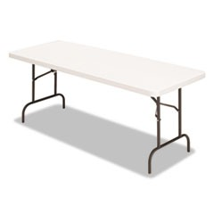 Banquet Folding Table, Rectangular, Radius Edge, 60 x 30 x 29, Platinum/Charcoal