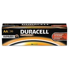 CopperTop Alkaline Batteries with Duralock Power Preserve Technology, AA, 36/Pk