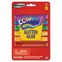 Confetti Glitter Glue Sticks, Assorted, .21 oz, 6 Sticks