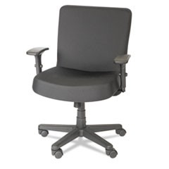 Alera XL Series Big and Tall Mid-Back Task Chair, Supports up to 500 lbs., Black Seat/Black Back, Black Base