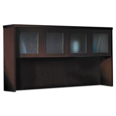 Aberdeen Series Laminate Glass Door Hutch, 72w x 15d x 39-1/4h, Mocha