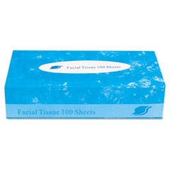 Boxed Facial Tissue, 2-Ply, White, 100 Sheets/Box
