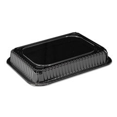 Clear Plastic Dome Lid, Rectangle, Fits 1-1/2 Lb Oblong Pan, 500/Carton