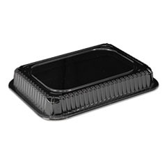 Clear Plastic Dome Lid, Rectangle, Fits 1 Pound Oblong Pan, 1000/Carton