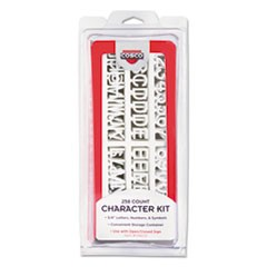 1Character Kit, Letters, Numbers, Symbols, White, Helvetica, 258 Pieces